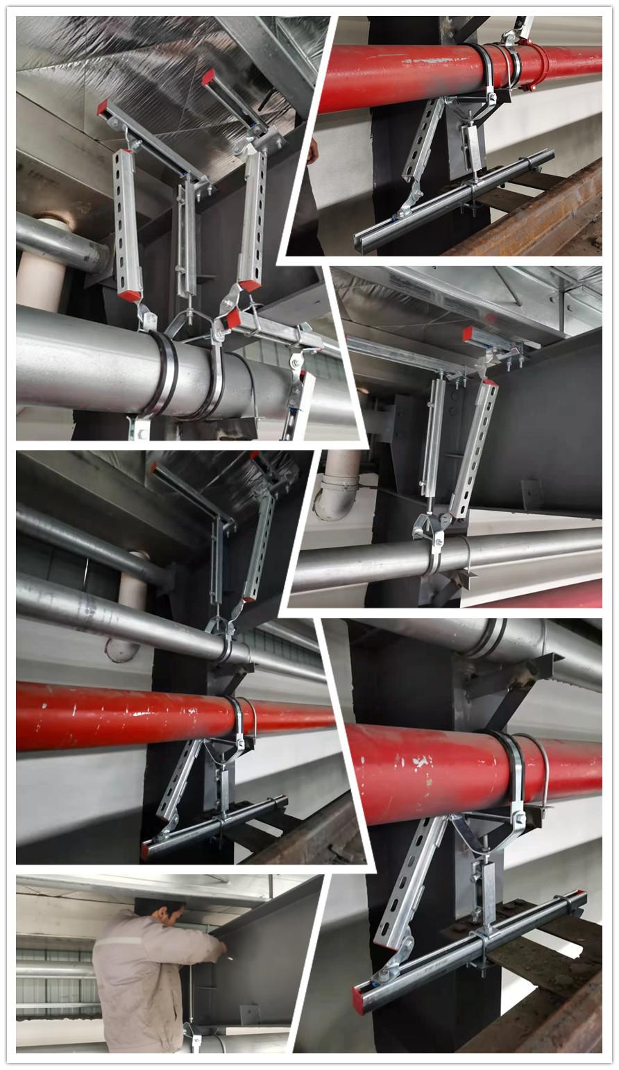 鋼結構廠房抗震支架安裝圖片