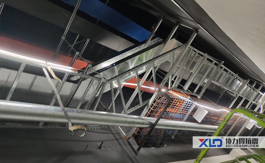 三河銘泰數據中心廠房鋼結構抗震支架安裝圖片